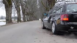 audi a6 2 7tt hard launch biturbo k04 acceleration exhaust sound tuning s4 rs4 500 hp vems