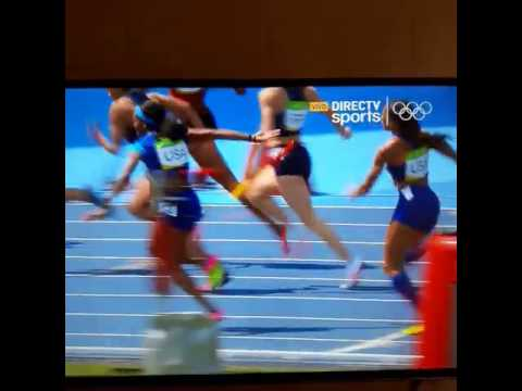 Так вона чёёёёёооо ... Эстафета американок 4х100 в Рио ...