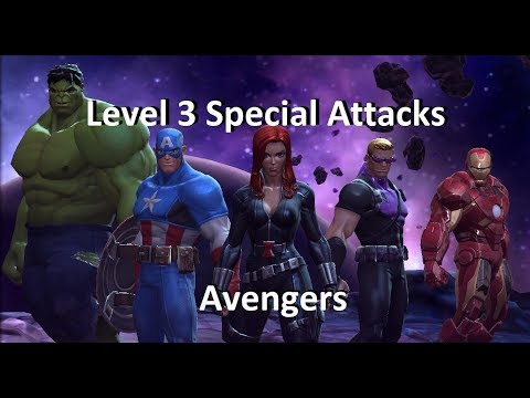 Avengers (2012) Level 3 Special Attacks MCOC