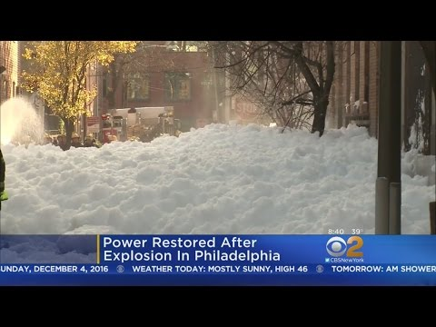 Foam Fills Philadelphia Streets After Power Outage