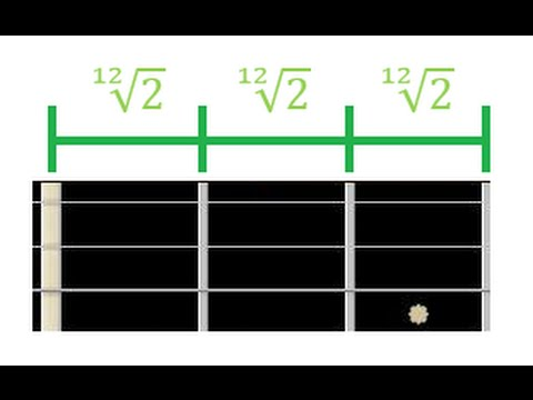 "06 Distance between frets, Verdi's ""A4 = 432 Hz"" tuning on a guitar"