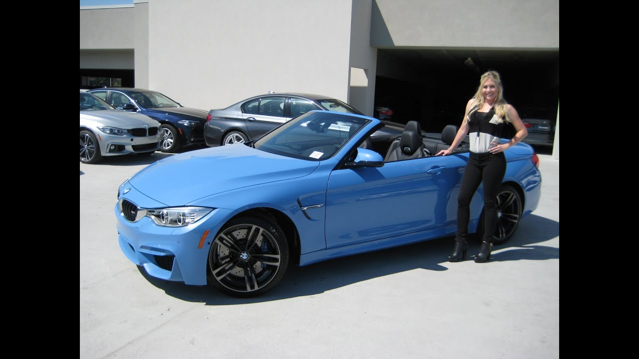 blue convertible bmw m4 - photo #21