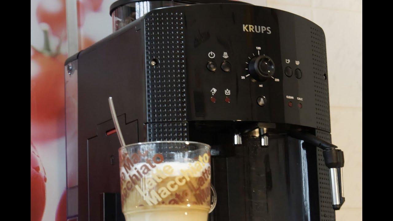 latte macchiato zubereitung mit kaffeevollautomat krups. Black Bedroom Furniture Sets. Home Design Ideas