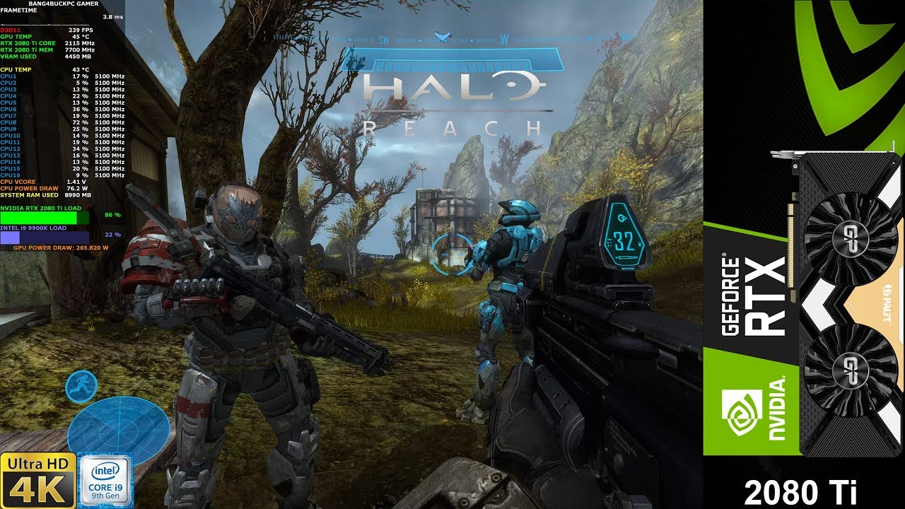 Halo Reach Master Chief Collection Pc Enhanced Setting 4k Rtx 2080 Ti I9 9900k 5 1ghz