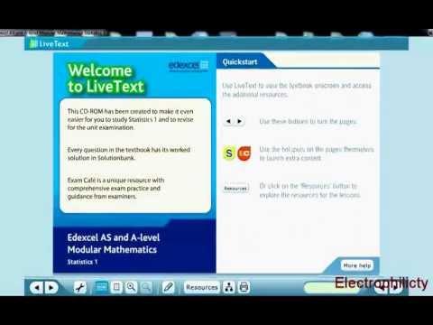 LiveText solution bank tutorial - Edexcel Livetext