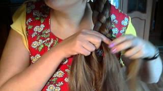Плетение косы из 4 прядей