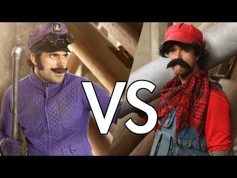Mario VS Waluigi (Fight Scene from Mario Warfare)
