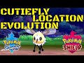 Pokemon Sword And Shield Cutiefly Evolution + Location