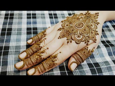 New Gulf Style Mandala Henna Design 2018 12 Heena Vahid Youtube