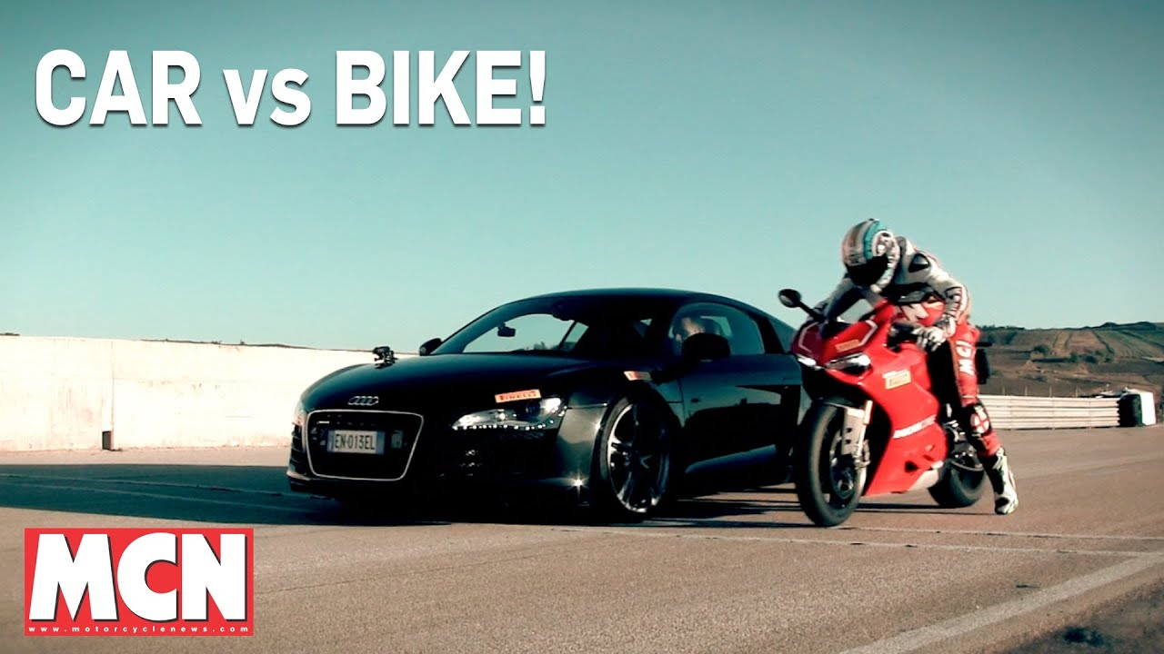 Car Audi R8 Vs Bike Ducati Panigale 1199r Feature