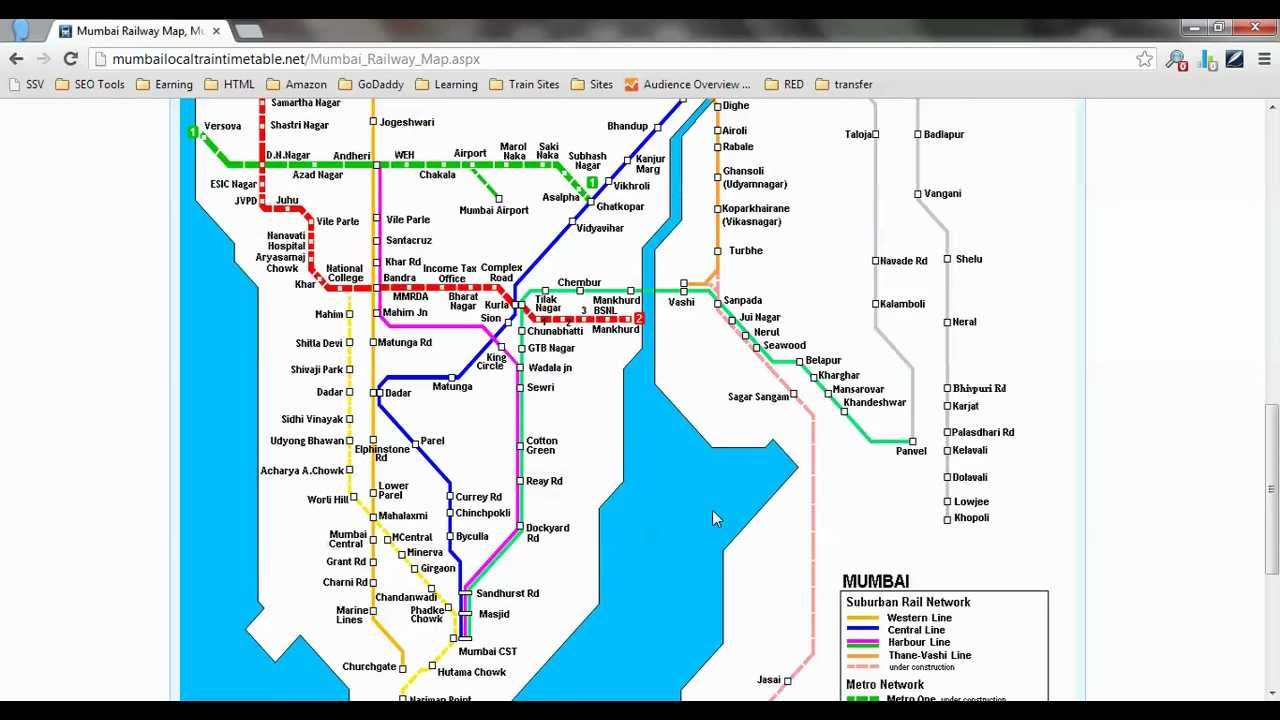 Railway Map Of India Pdf.Mumbai Railway Map Mumbai Local Train Map Pdf Youtube