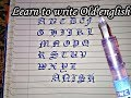 How to write OLD ENGLISH ENGLISH CAPITAL letters by a. Pen |Anish yadav |