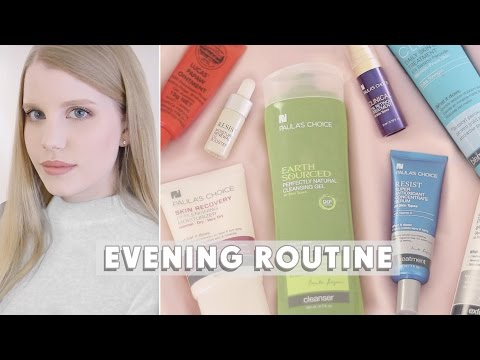 Evening Skincare Routine • Dry, Acne Prone