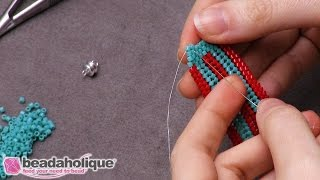 How to Finish Herringbone Stitch Bead Weaving With a Brick Stitch Decrease