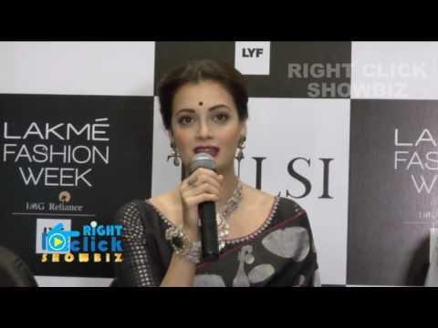 Lakme Fashion Week - Dia Mirza Walks the Ramp for Designer Santosh Parkeh