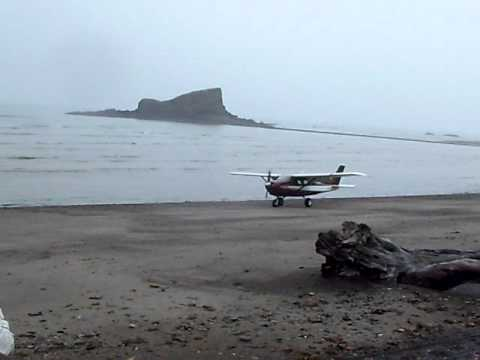The fun and scary way you get to Hallo Bay Wilderness Camp by Plane