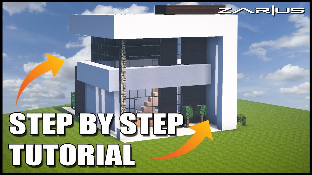 Minecraft House Tutorial Great Modern House Easy To Follow House