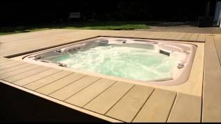 Whirlpool vollautomatisch versenkt - Integriert in Terrassendeck (begehbar)