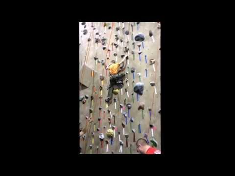 Tim climbing at Reading Rocks.