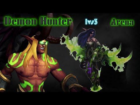 WoW Legion 7.1.5 - Demon Hunter power | 1vs3 Arena  | Massive Damage  -  PvP | 3v3 Arena . 60 Fps