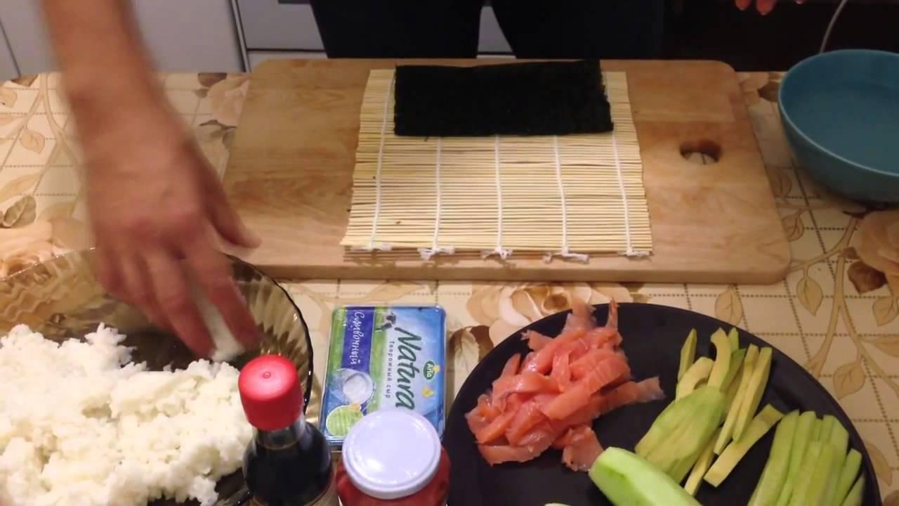 как приготовить роллы дома быстро