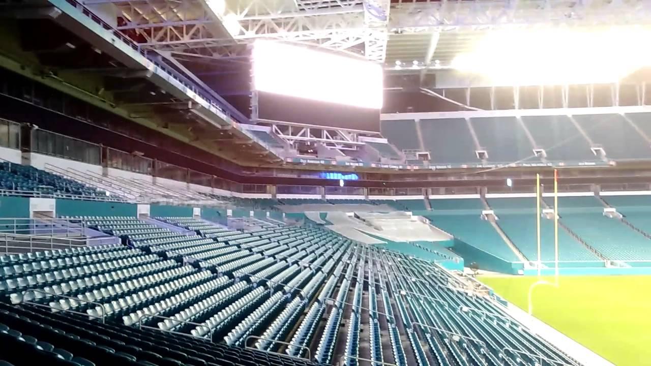 hard rock stadium (renovation 2016 / florida) - youtube