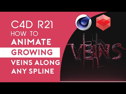 C4D R21 Tutorial - How to Animate Growing Veins Along Any Spline thumbnail