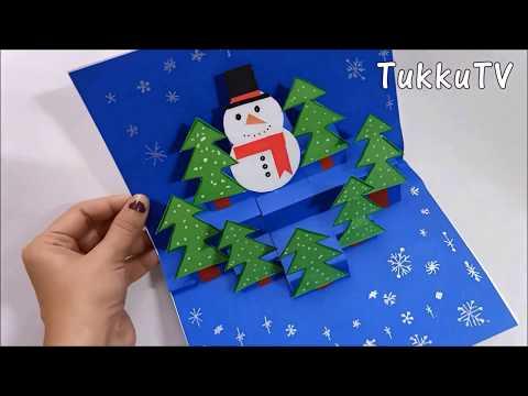 Simple & Easy Handmade Christmas Pop Up Greeting Card   TukkuTV