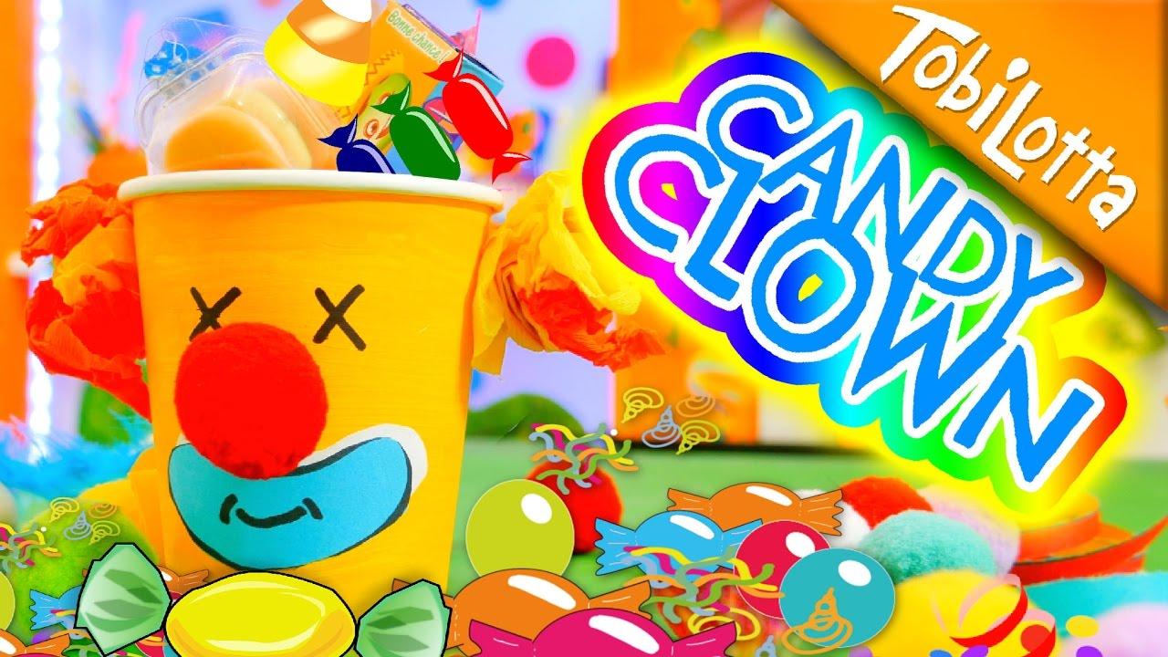 Candy Clown Basteln Kinder Basteln Karneval Diy Kinderkanal