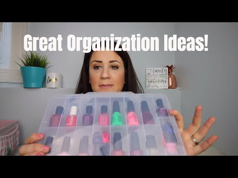 ORGANIZATION TIPS FOR BUSY MOMS- feat The Nail Polish Organizer by Solid Beauty Concepts