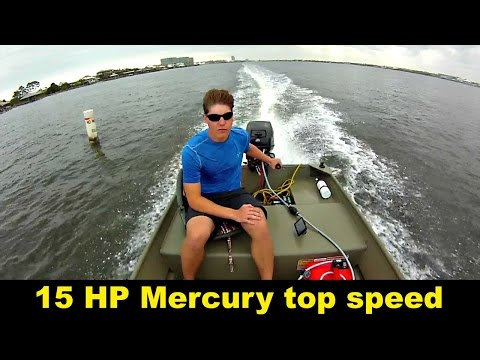 Top speed 15 horsepower mercury outboard