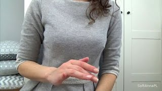 asmr progressive muscle relaxation in polish gentle hand movements whispering