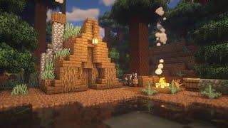 마인크래프트 야생 건축 - 숲 속의 흙 지붕 집