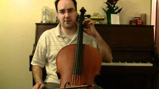 Allegro Moderato by Bach - Cello Lessons Book 3