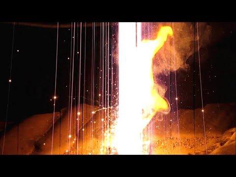 Calcium Sulfate Thermite at Night