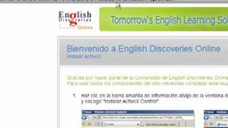 Primer acceso a English Discoveries Online