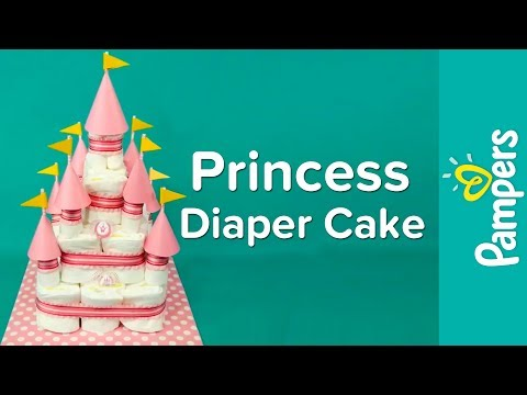 Diaper Cake Ideas for Baby Girls: Princess Castle Diaper Cake | Pampers