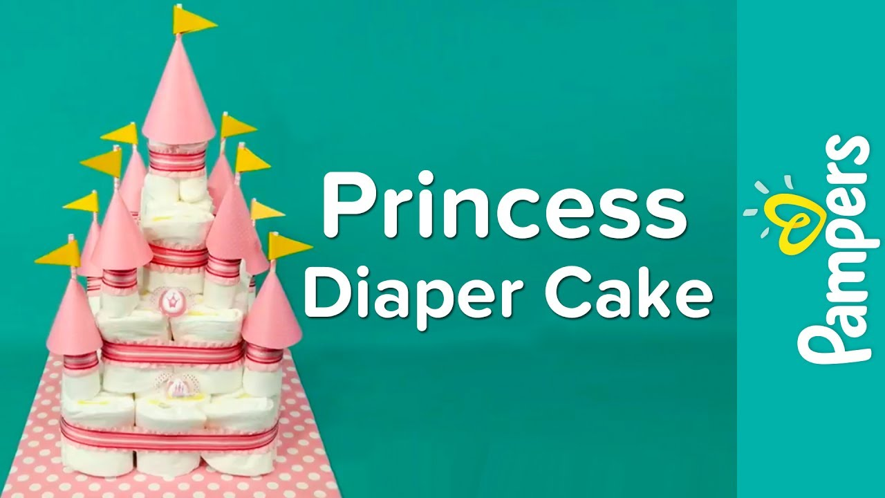 Diaper Cake Ideas For Baby Girls Princess Castle