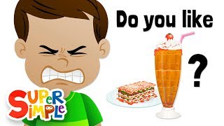 Do You Like Lasagna Milkshakes? | Ice Cream and Lasagna!? | Super Simple Songs thumbnail