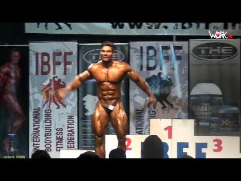 WORK.tv - IBFF pro Wasim Khan Free Posing Routine, Koper 2015