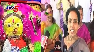 Bhuvaneswari and Vasundhara Participates In Sankranti Celebrations | Naravaripalle | TV5 News
