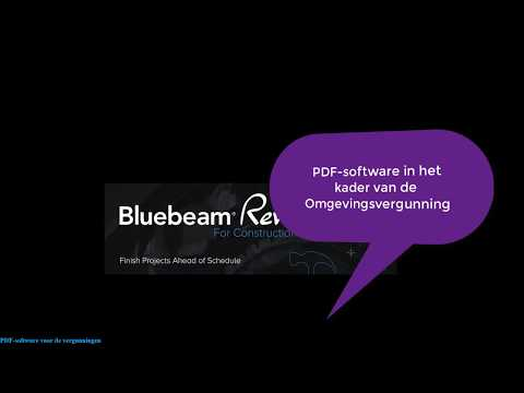 Intro Bluebeam Revu PDF-software voor de Omgevingsvergunning