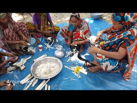 Shrimp & Banana Trunk / Banana Stem Mashed Cooking For Charity Food | Feed Kids & Villagers