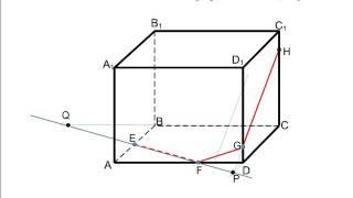 Сечение призмы плоскостью, заданной тремя точками