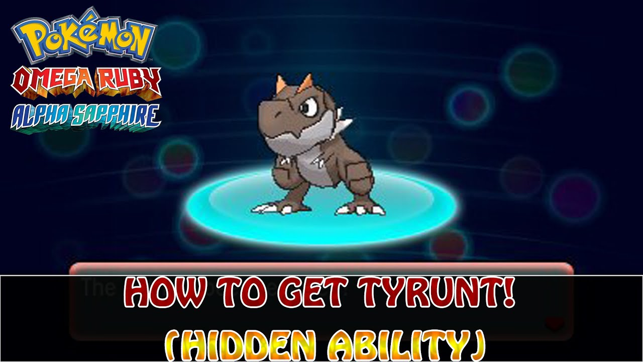 how to get tyrunt in alpha sapphire