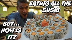 ALL YOU CAN EAT SUSHI VS COMPETITIVE EATER | TORONTO'S CHEAPEST AYCE SUSHI | Sushi Review & Mukbang