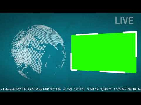 LIVE News Flash with a Green Screen   Free to Use