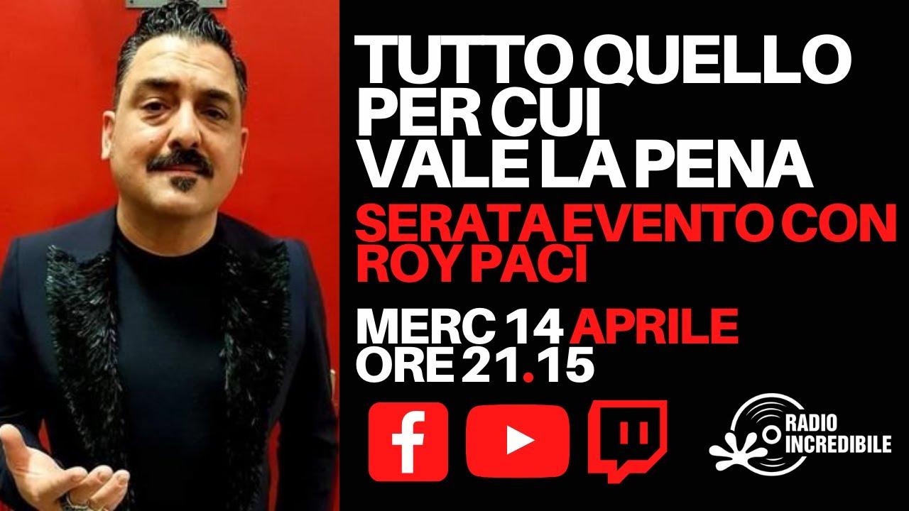 Serata Evento con Roy Paci  Tutto quello per cui vale la Pena