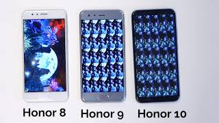 Honor 8 vs. 9 vs. 10 - Antutu benchmark