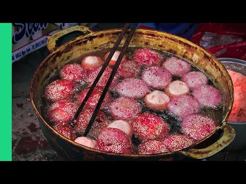 RARE Vietnamese Mountain Food in the Most Colorful Market in the World! - Bac Ha Market